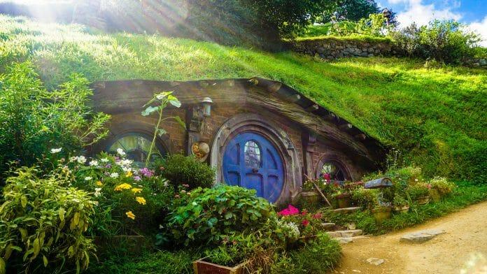 Hobbit-Höhle im Auenland (Mittelerde).
