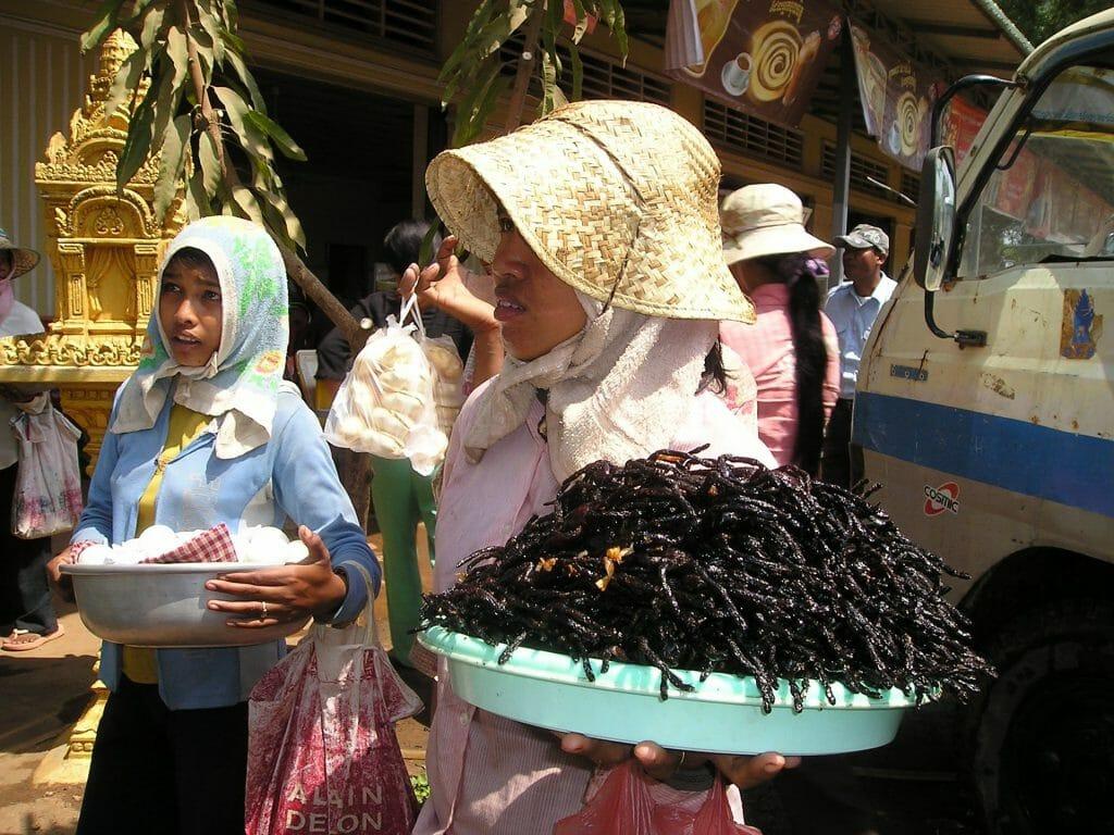 Essbare Insekten auf dem Markt