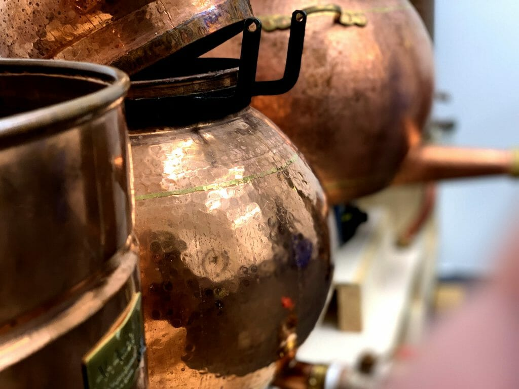 Kupfer Destillen